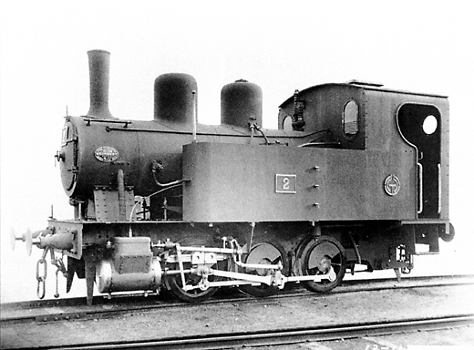 Hero image of the Hokutan #2 locomotive as delivered from the factory.